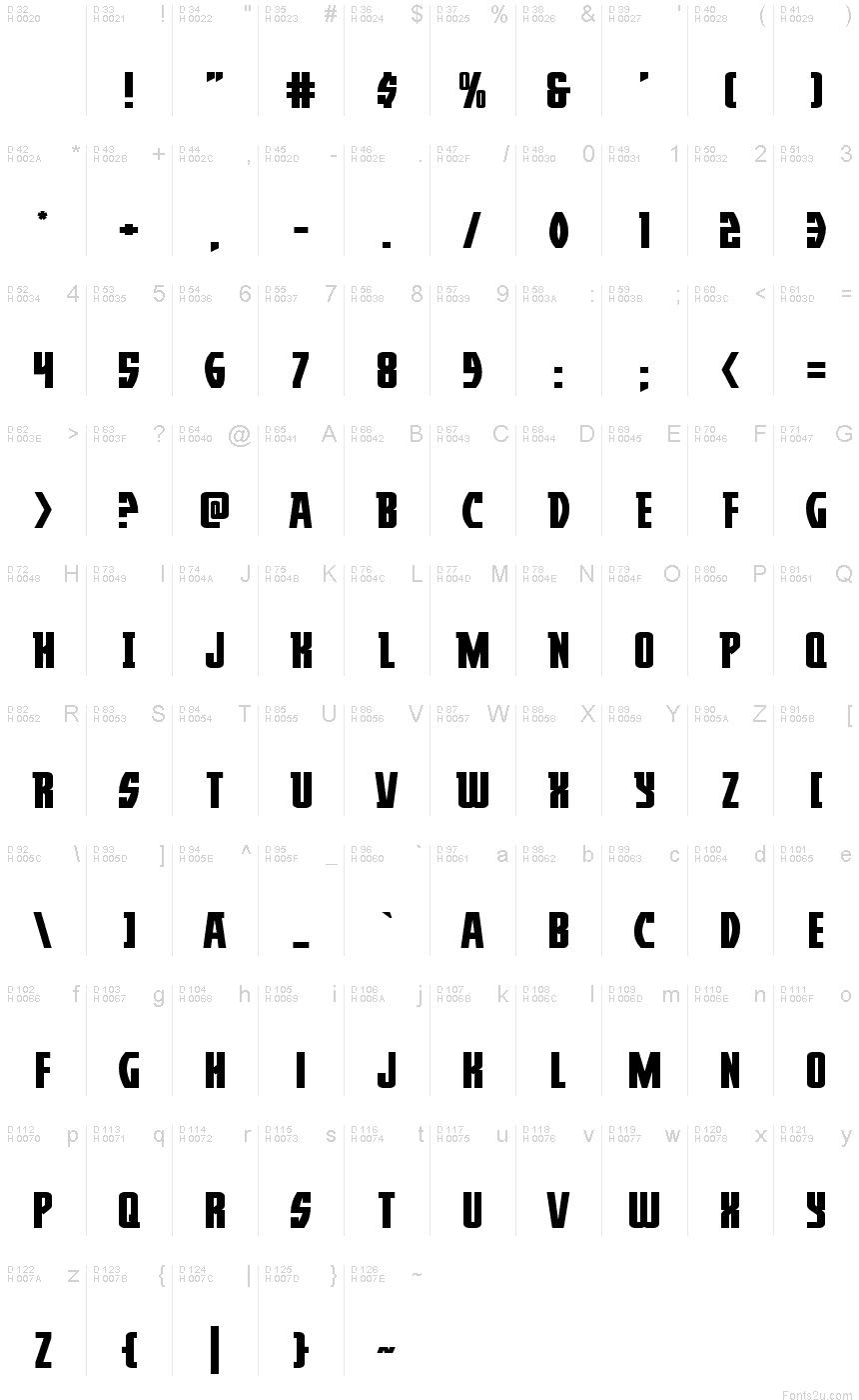 Download Prowler Expanded font