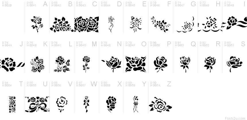 Roses! Roses! font