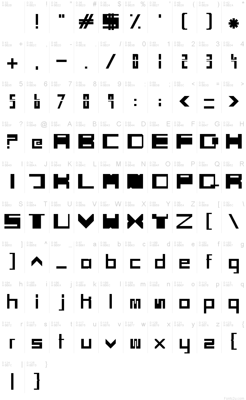SCI FI BOX font