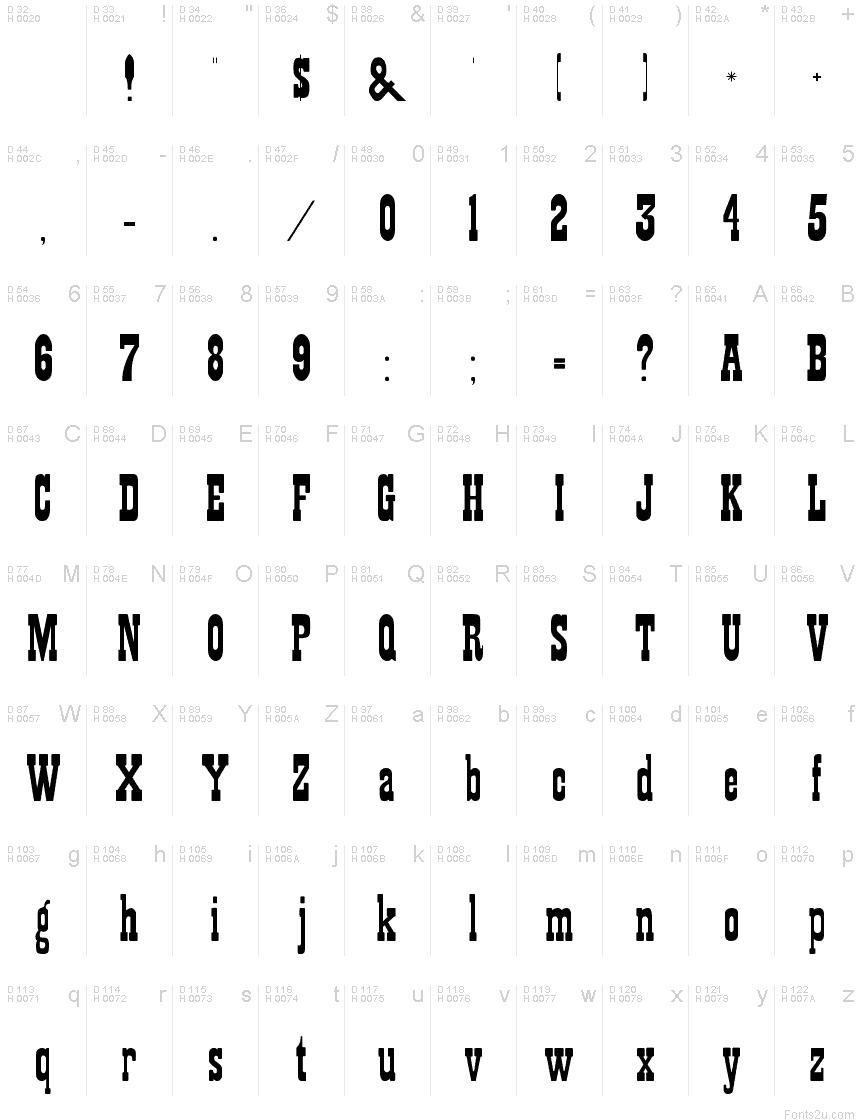 Showguide Normal font