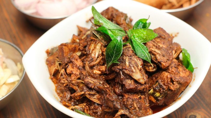 Cooked jackfruit has a shredded meat texture that resembles pulled pork (Credit: Credit: Nathan Mahendra)