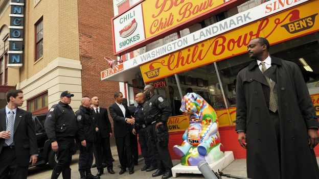 Ben's Chili Bowl has long been a popular stop for both celebrities and locals (Credit: Credit: Mandel Ngan/Getty Images)