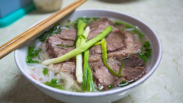 Hanoi pho features a savoury beef broth with minimal use of garnishes and seasonings (Credit: Credit: 8Creative.Vn/Getty Images)