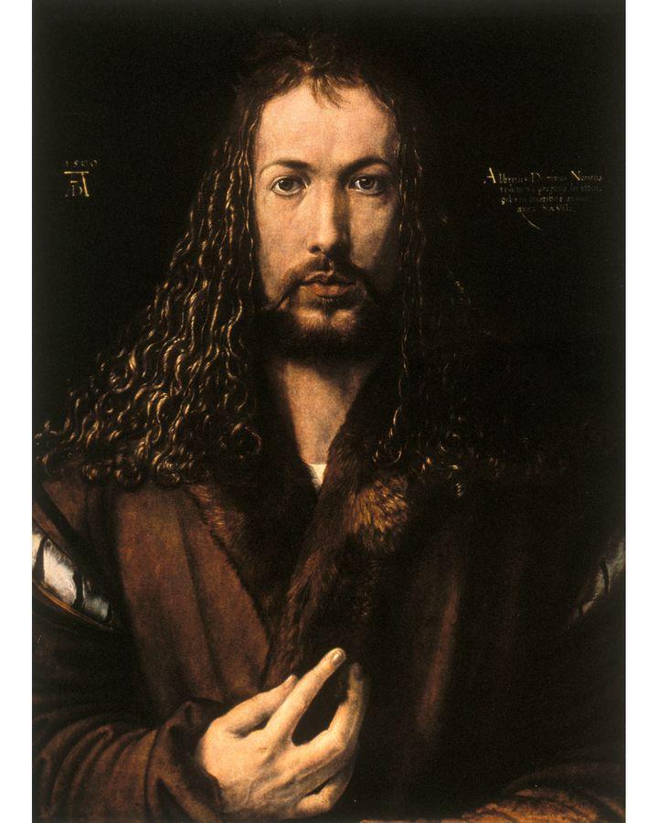Albrecht Dürer's Self-Portrait at Twenty-Eight (1500) also features an inscription (Credit: Getty Images)
