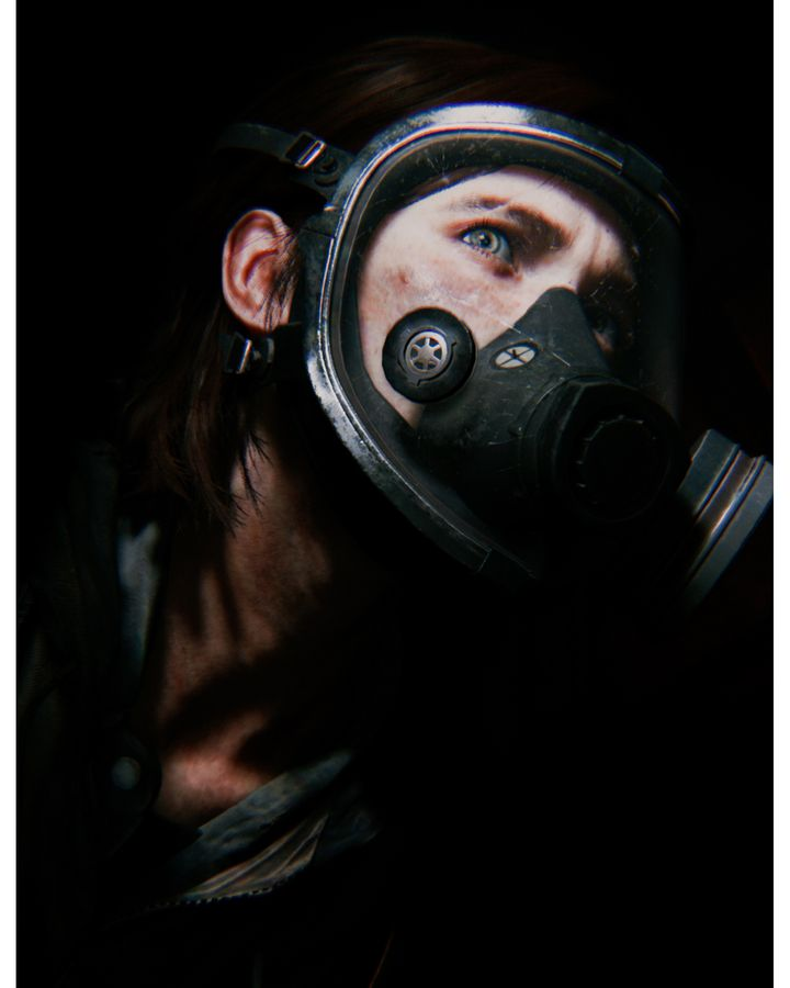 Reims' shot of the heroine of The Last of Us 2 in a gas mask reflected the darkness she felt following her father's death (Credit: Megan Reims/Naughty Dog)