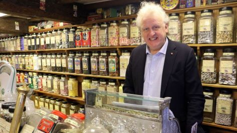 Keith Tordoff is the owner of The Oldest Sweet Shop in England, which first started selling sweets nearly two centuries ago (Credit: Mike MacEacheran)