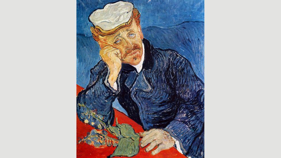 """Van Gogh şunları yazdı: """"Dr Gachet'de gerçek bir arkadaş buldum ... fiziksel ve zihinsel olarak birbirimize çok benziyoruz"""" - bu portreyi kendini çekmeden haftalar önce bitirdi"""