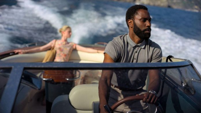 John David Washington stars alongside Elizabeth Debicki and Robert Pattinson in Tenet, this year's most anticipated – and postponed – release (Credit: Alamy)
