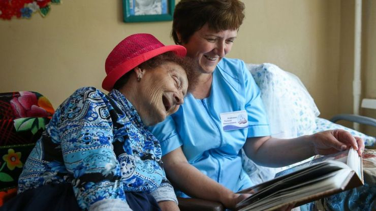 As populations around the world age, putting pressure on care homes, services providing at-home care may become more prevalent (Credit: Alexander Ryumin/Getty Images)