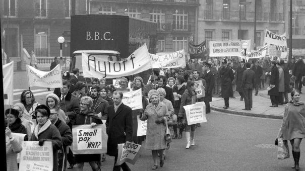 La membresía sindical ha disminuido constantemente desde su apogeo en la década de 1970 (Crédito: Alamy)