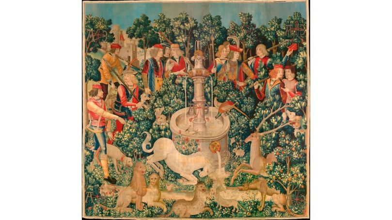 The fruit made regular appearences in artworks, such as this tapestry from around 1500 (Credit: Alamy)