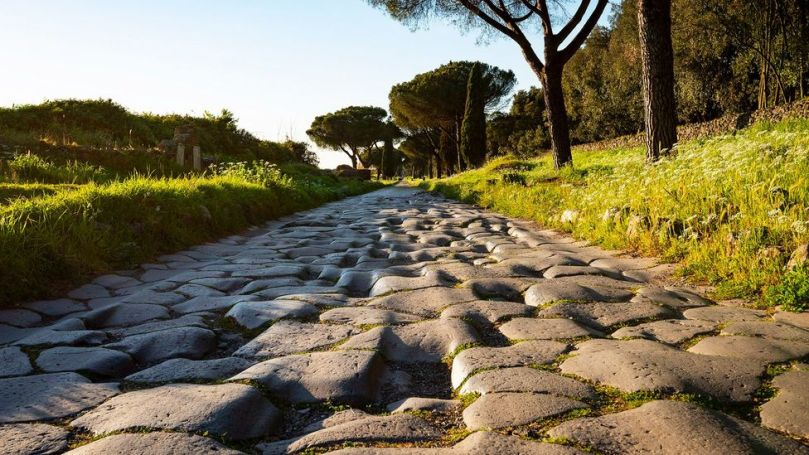 During Italy's Covid-19 lockdown, Magnanimi took walks along the Appian Way, spending time among shepherds, picnickers and joggers (Credit: Stefano Castellani)