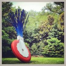 An amazing sculpture garden celebrating old skool typewriter tools... — at Sculpture Garden at the National Museum of Art.