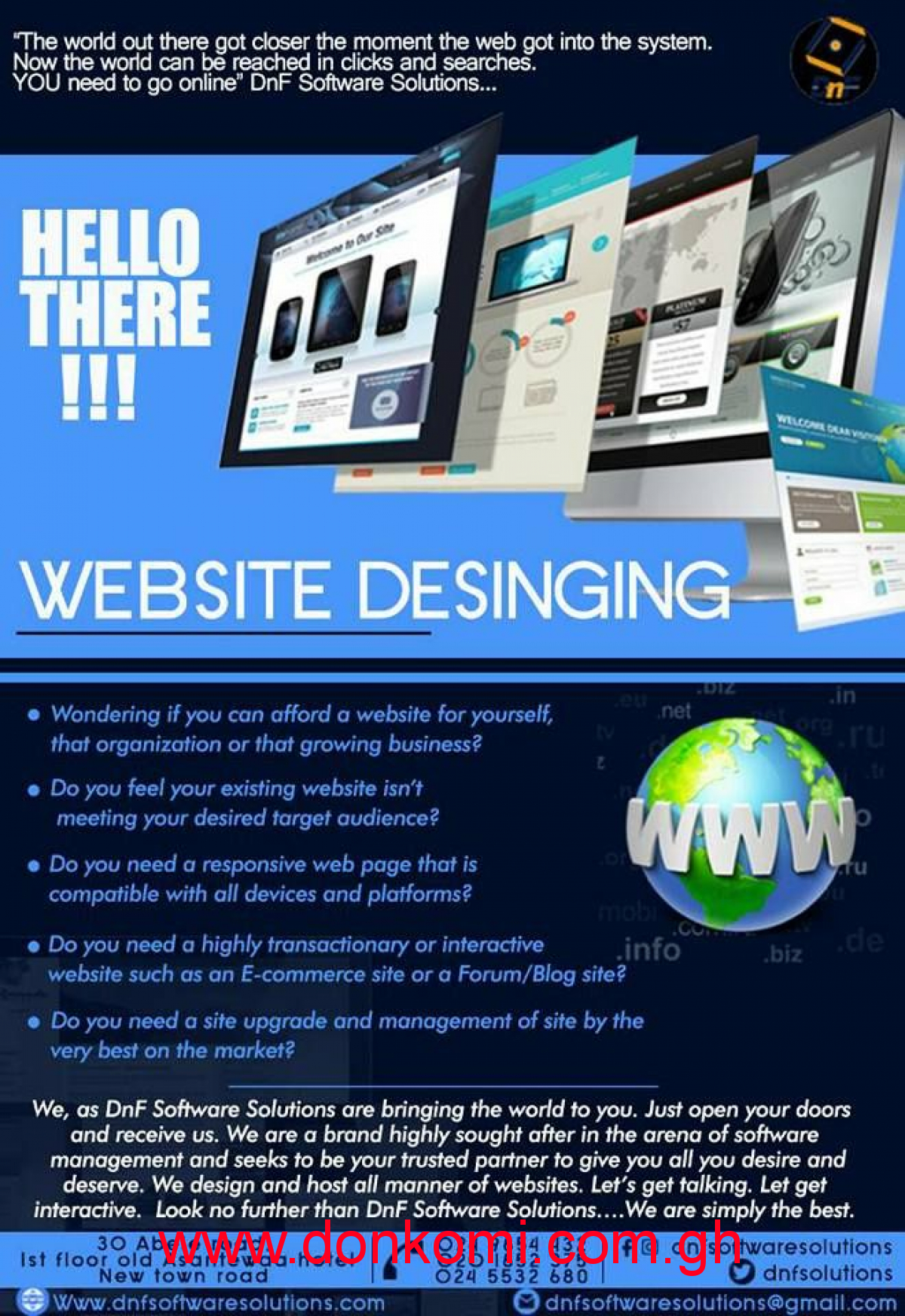 Websites, apps, prints and designs