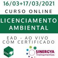 CURSO DE LICENCIAMENTO AMBIENTAL- EAD  AO VIVO,  EM TEMPO REAL