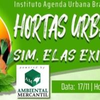 17/11 WEBINAR SOBRE 'HORTAS URBANAS' - IAUB SÉRIE TENDÊNCIAS