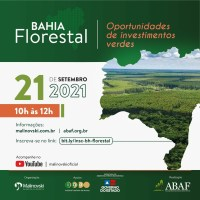 LANÇAMENTO DO BAHIA FLORESTAL 2021 - Oportunidades de Investimento Verde