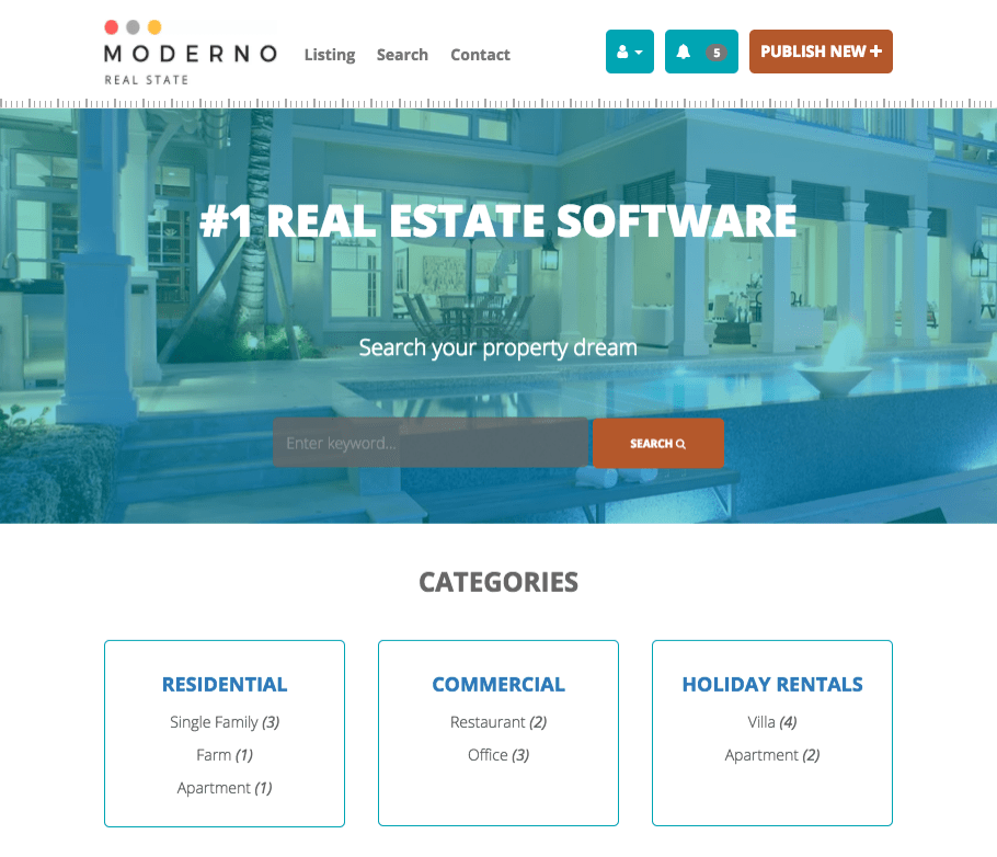 Real Estate Website Using Our Powerful Software Create A Free