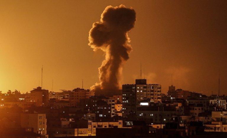 Israel bombed Hamas military targets and closed fishing areas in the Gaza Strip