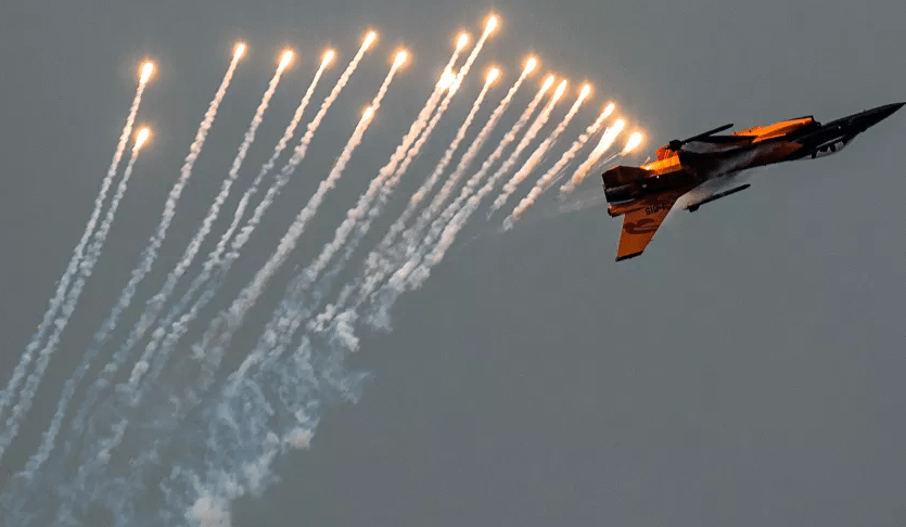 U.S. fighter plane intercepted passenger plane firing signal flare over Trump rally