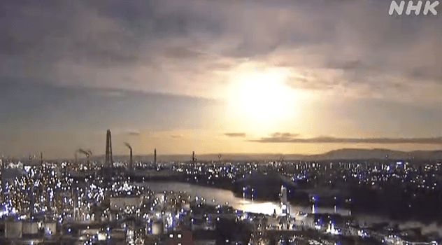 Giant fireball suddenly landed in Japan: the night sky was instantly illuminated, and people in many places witnessed it.