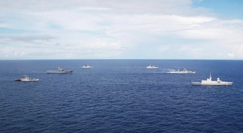 The end of the annual joint exercise of the Singapore and the Indian Navy