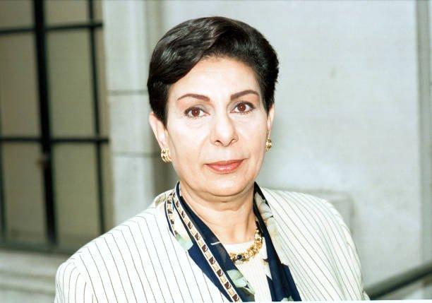 Hanan Ashrawi member of the PLO Executive Committee resigned