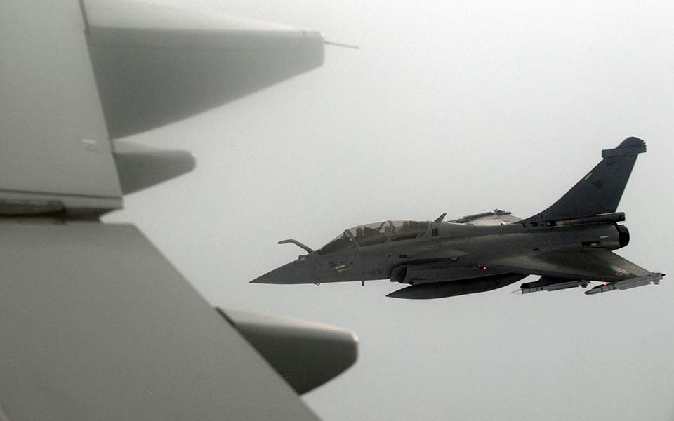 """Greece purchased 18 """"gust"""" fighters from France at a total cost of about 2.3 billion euros."""