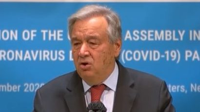 The United Nations General Assembly held a special meeting on the epidemic. Guterres criticized some countries for ignoring the WHO guidelines on epidemic prevention.