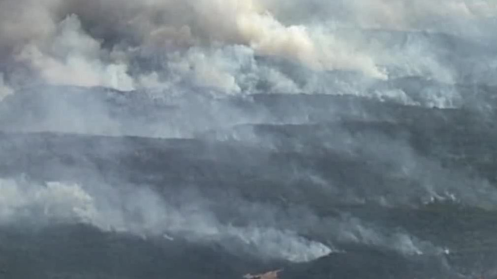 Wildfires in Fraser Island, Australia are still difficult to control after 7 weeks.