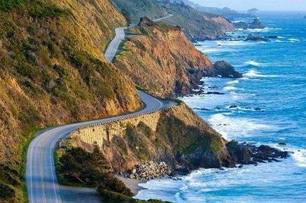"""California Highway 1 partially """"falls into the sea"""""""