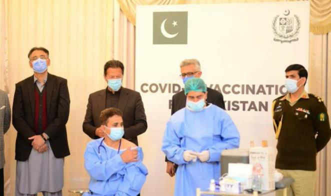 Pakistan officially began to vaccinate medical personnel against coronavirus.