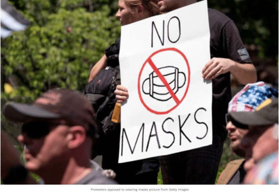 In order to avoid wearing masks, a Florida man in the United States pretended to be a policeman!