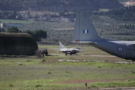 Greece and France hold joint military exercises in the Aegean Sea