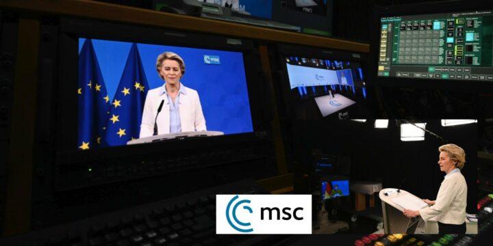 Von der Leyen Addressing at Munich Security Conference Focus on Climate Change and Digital Transformation