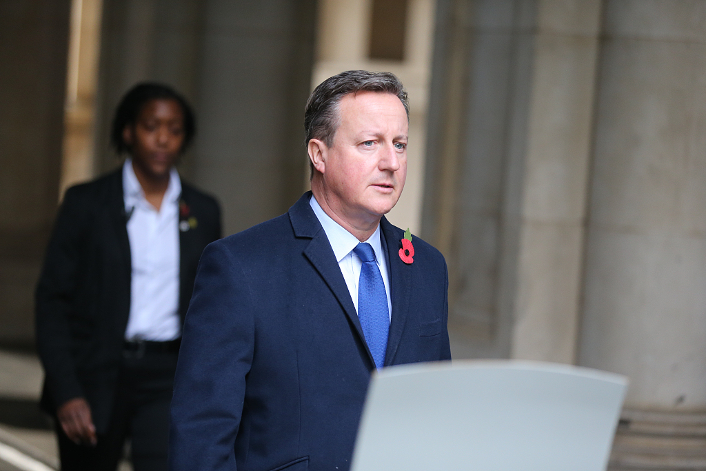 Former British Prime Minister Cameron will be investigated by the government for improper lobbying