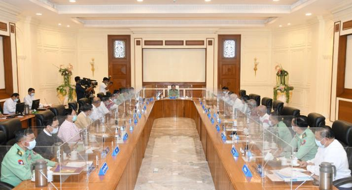 Myanmar's National Governing Council announced the formation of a caretaker government, Min Aung Rai, as prime minister