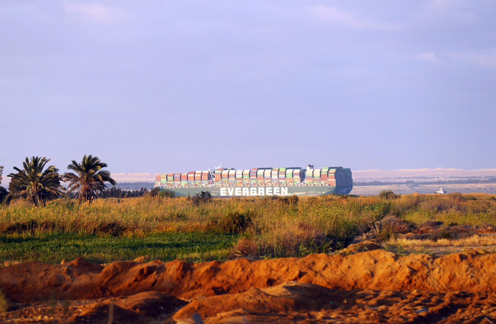 Egypt began work to widen the waterway in the South Section of the Suez Transport