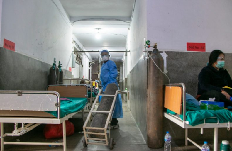 Twelve Coronavirus patients died in a hospital in Nepal in two days, mostly from lack of oxygen