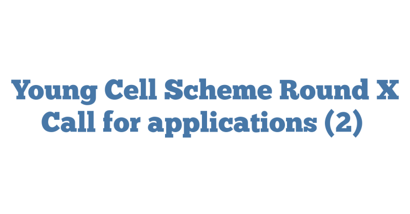 Young Cell Scheme Round X Call for applications (2)