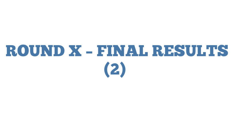 ROUND X – FINAL RESULTS (2)