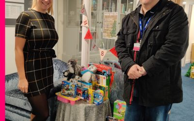 Brook Dene support YCT with lovely gifts