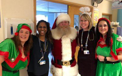 Santa Blake delivers at Calderdale Hospital