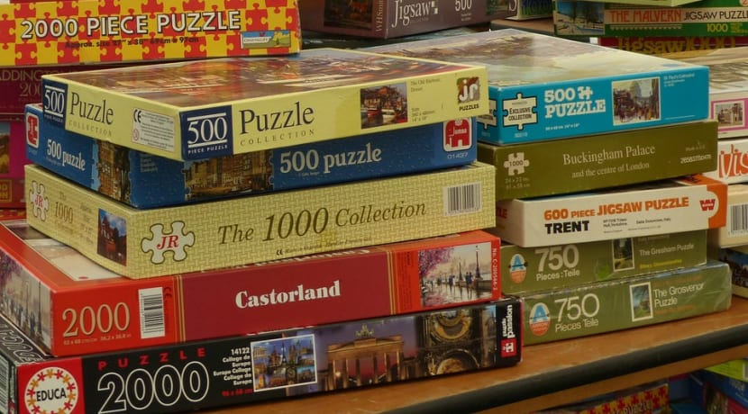 Pile of jigsaw Puzzles