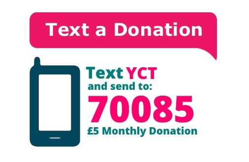 Text donate to YCT