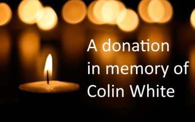 Donation in Memory of Colin White