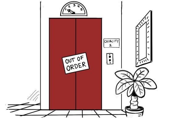 Cartoon Broken Elevator