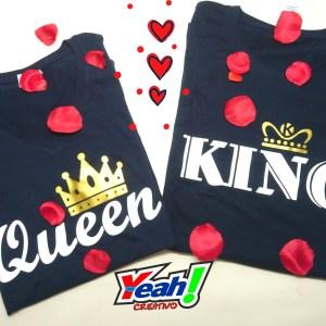 par de camisetas king and queen