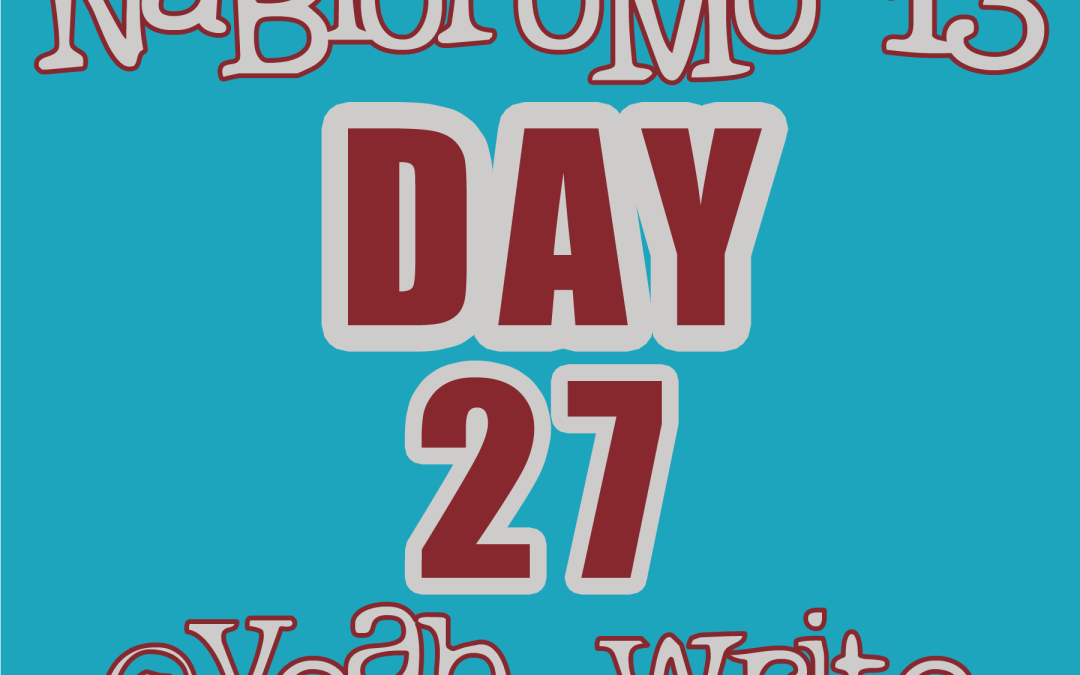BlogHer's NaBloPoMo at yeah write—Day 27: Home Stretch