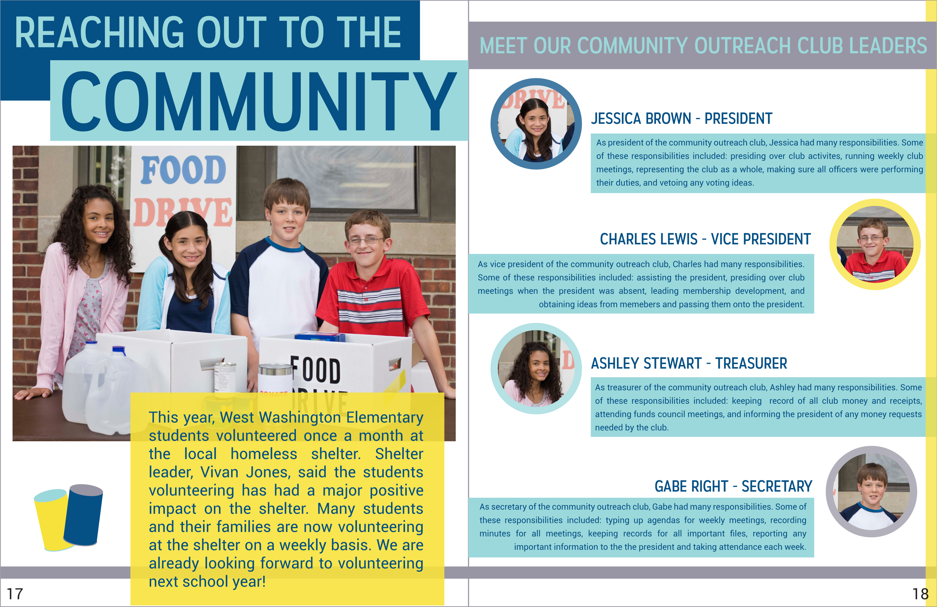 yearbook style yearbook page